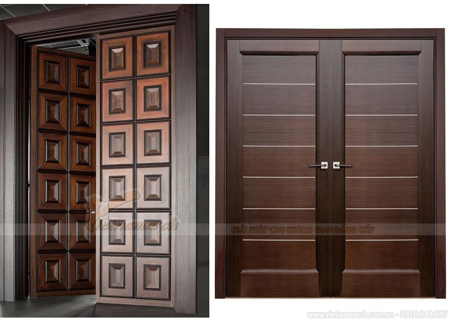 Mẫu cửa gỗ chắc chắn với thiết kế đẹp sang trọng 2018