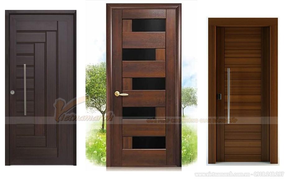 Mẫu cửa gỗ 1 cánh thiết kế đơn giản mà hiện đại