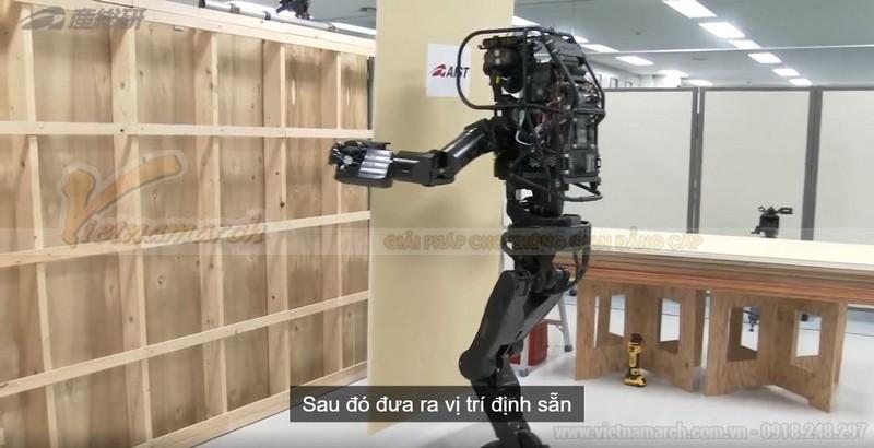 Vách thạch cao thi công nhờ robot