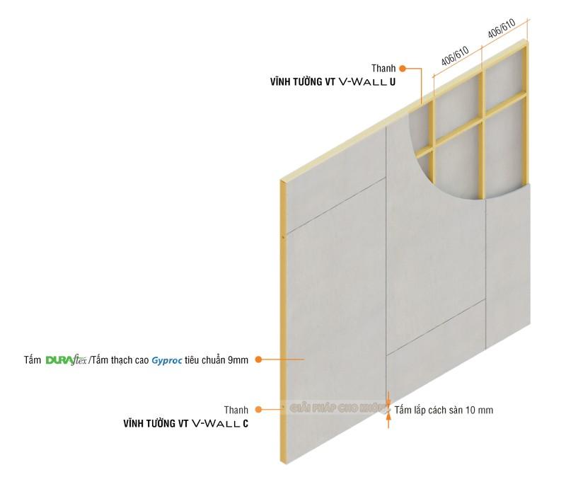 Khung vách ngăn V-Wall