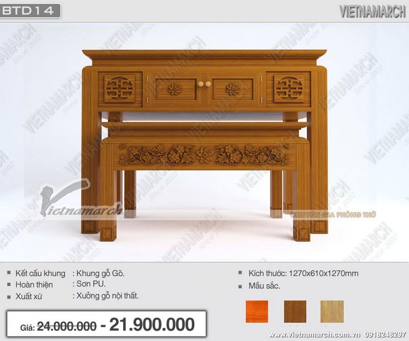 mẫu bàn thờ tổ tiên