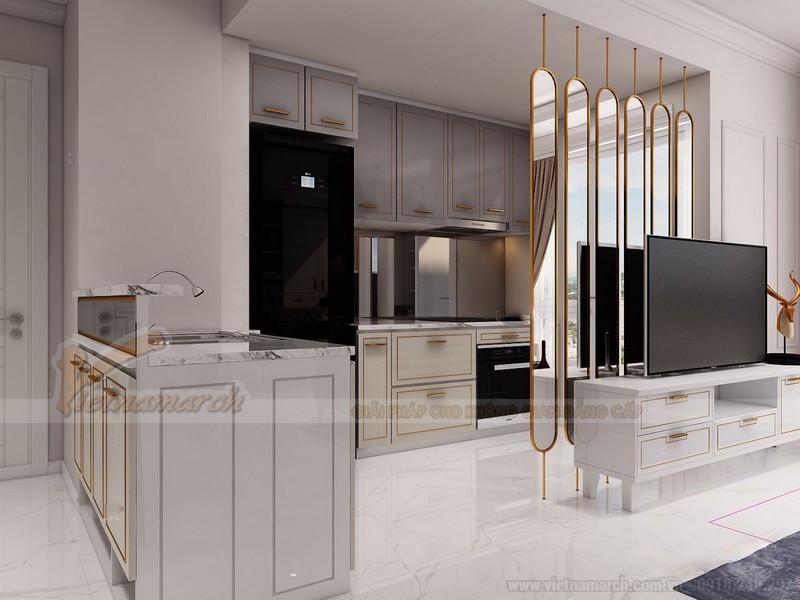 Nội thất phòng bếp nhà chung cư 60m2