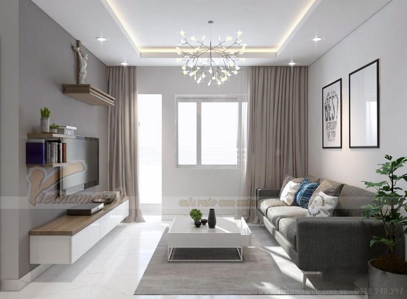 Nội thất phòng khách nhà chung cư 50m2