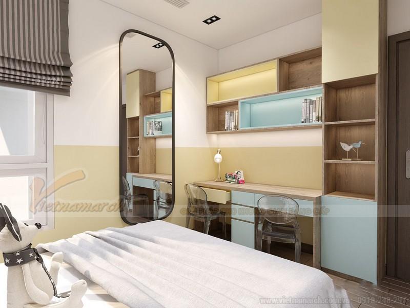 Nội thất phòng ngủ bé tông màu pastel
