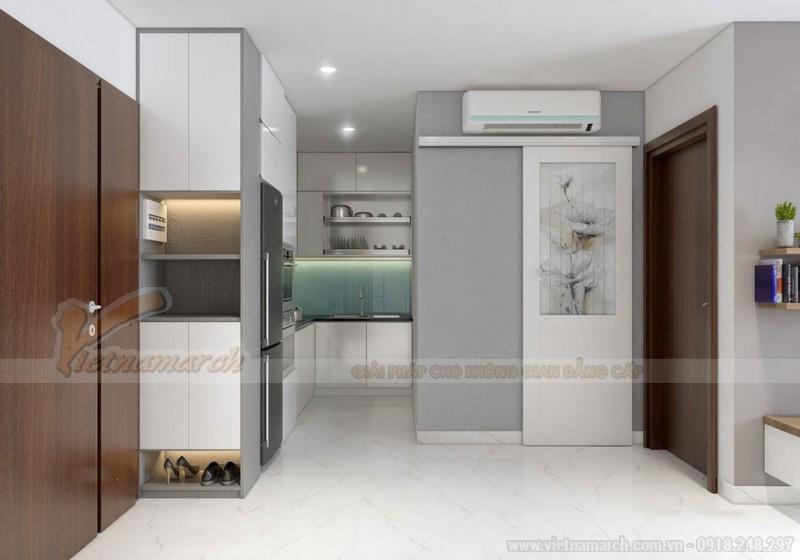 Nội thất phòng bếp nhà chung cư 50m2