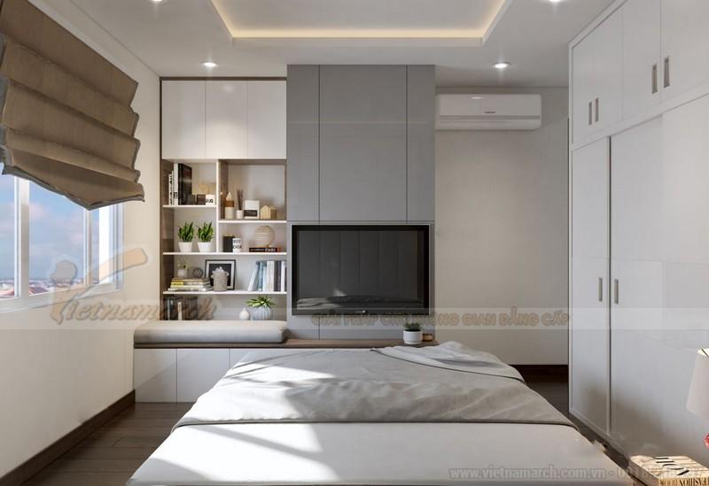 Nội thất phòng ngủ hiện đại nhà chung cư 50m2