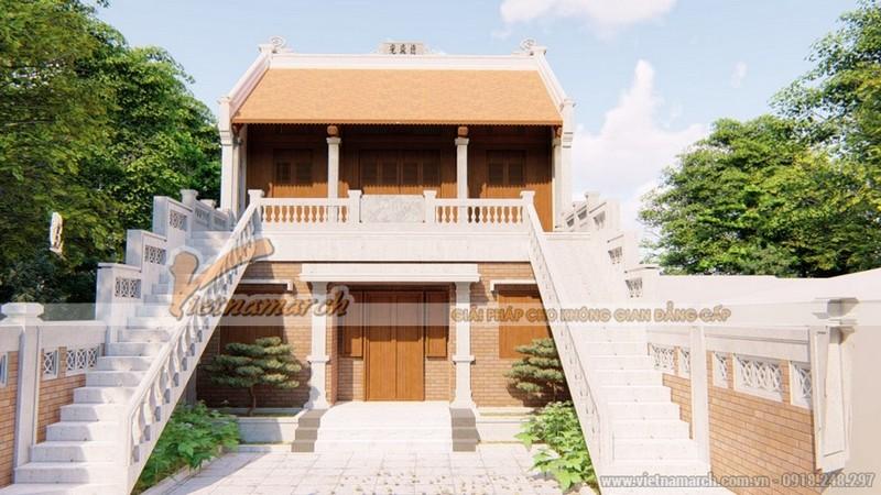 Mẫu thiết kế nhà thờ họ 2 tầng đẹp tại Quảng Bình