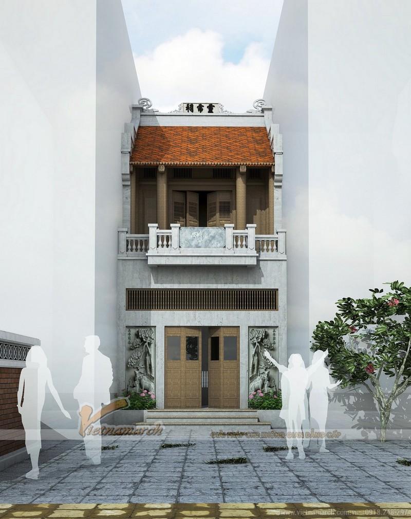 Mẫu thiết kế nhà thờ họ 2 tầng diện tích nhỏ tại Hà Đông - Hà Nội