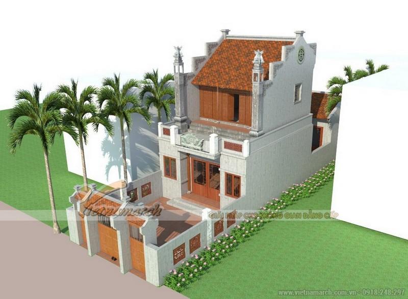 Mẫu thiết kế nhà thờ họ 2 tầng diện tích nhỏ tại Thanh Hóa