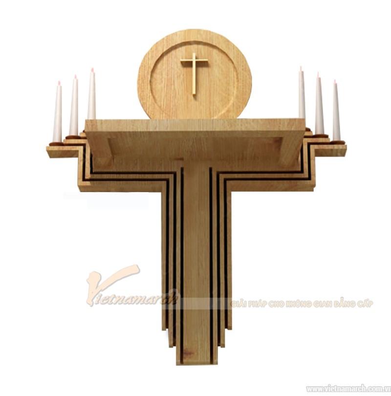 bàn thờ Chúa gỗ hiện đại