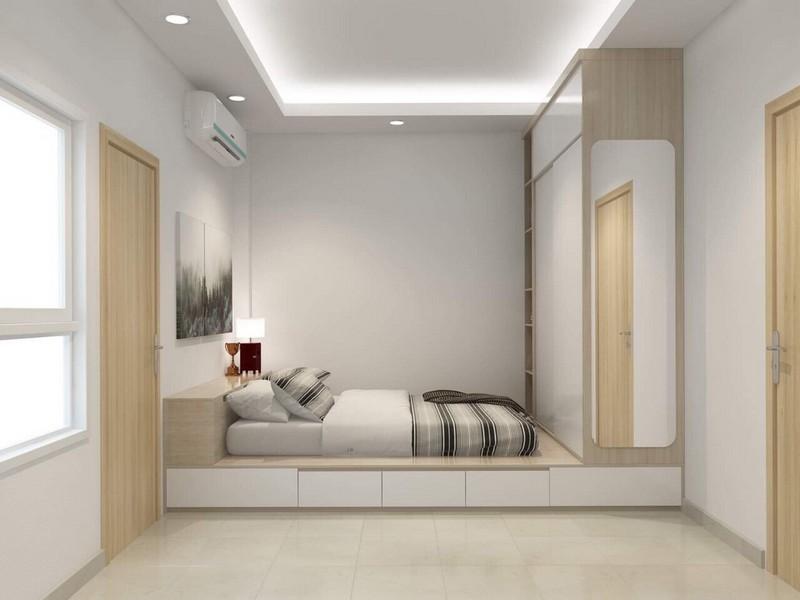Trần thạch cao phòng ngủ nhà chung cư