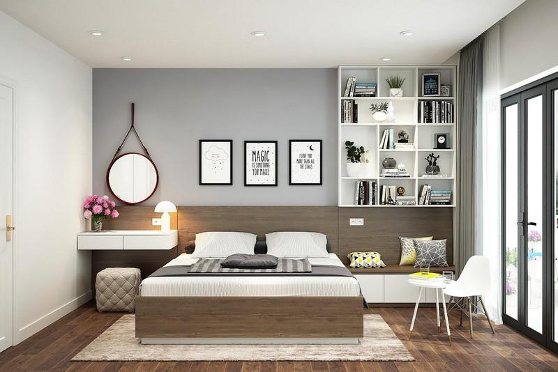Trần thạch cao hiện đại phòng ngủ nhà chung cư