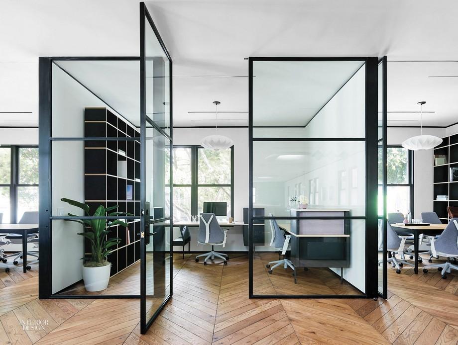 Mẫu thiết kế phòng làm việc tiện nghi trong không gian làm việc chung