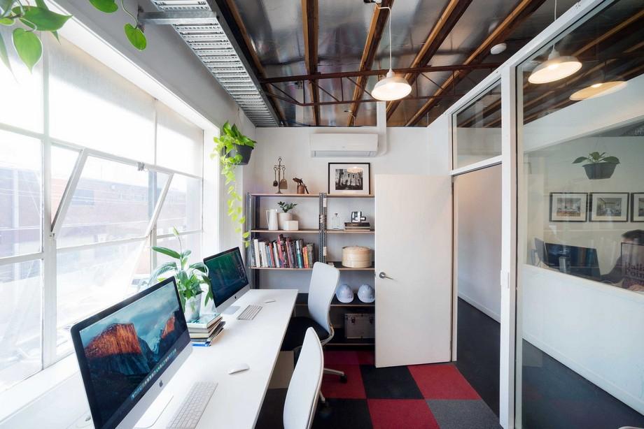 mẫu thiết kế phòng làm việc trong không gian làm việc chung