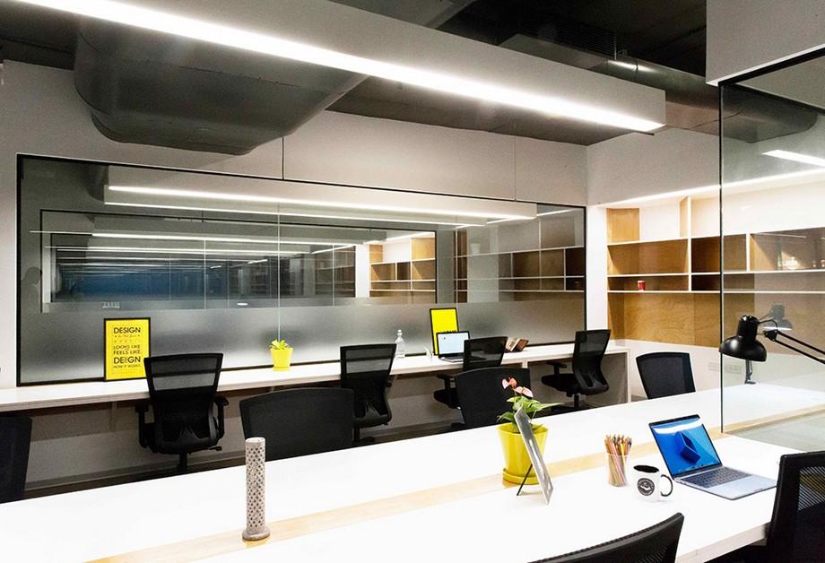 Mẫu thiết kế phòng làm việc trong không gian làm việc chung cho 10 - 20 người