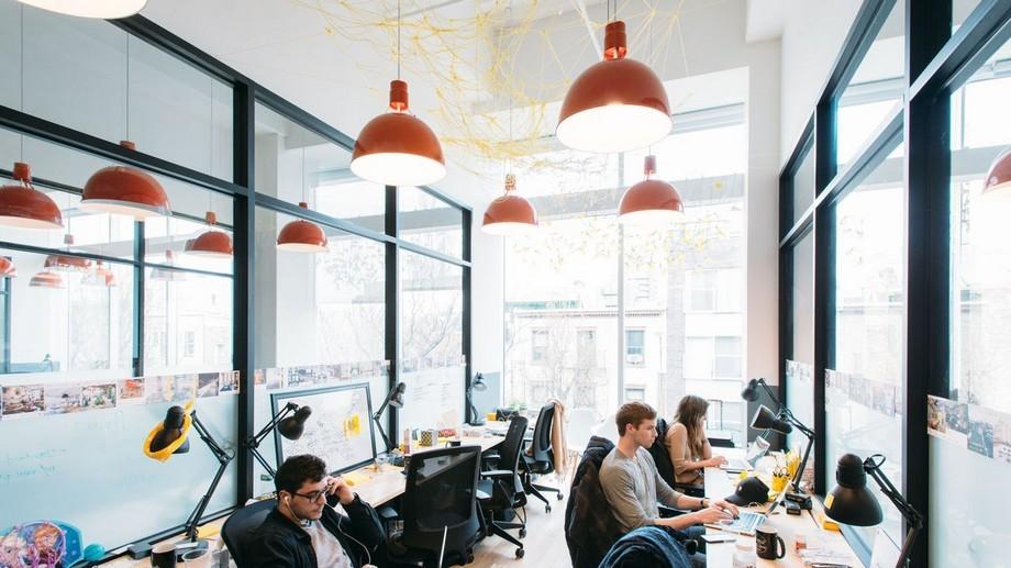 Mẫu thiết kế phòng làm việc trong không gian làm việc chung cho 8 người