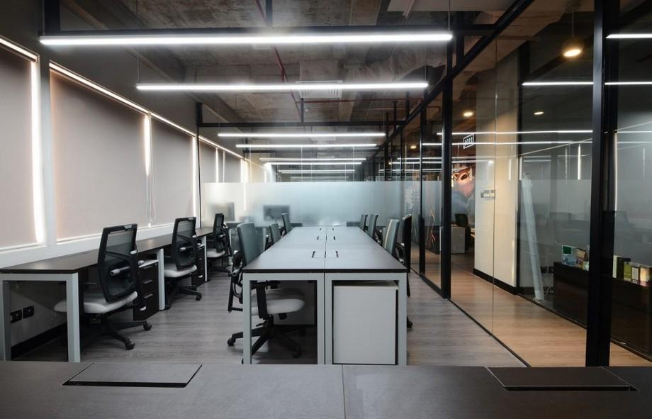 Mẫu thiết kế phòng làm việc trong không gian làm việc chung cho công ty nhỏ