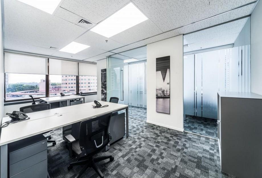 Mẫu thiết kế phòng làm việc hiện đại trong không gian làm việc chung