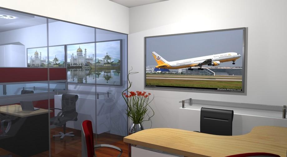 Nội thất văn phòng hãng hàng không Royal Brunei