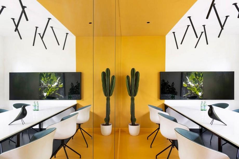 Thiết kế nội thất phòng làm việc cho nhân viên cho văn phòng công ty xây dựng