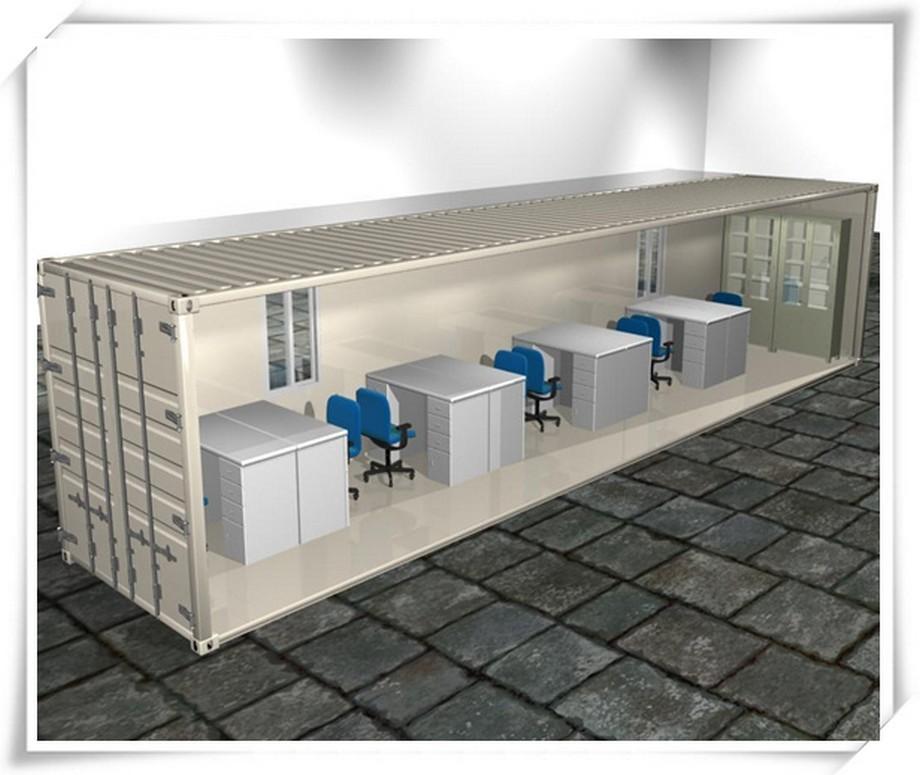 cách thiết kế nội thất văn phòng container