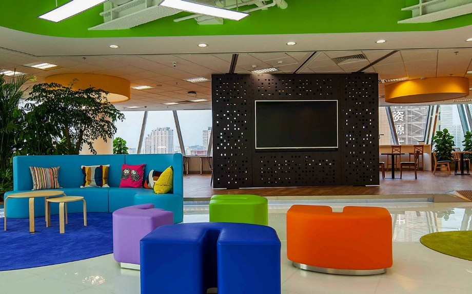 phong cách thiết kế văn phòng vui nhộn