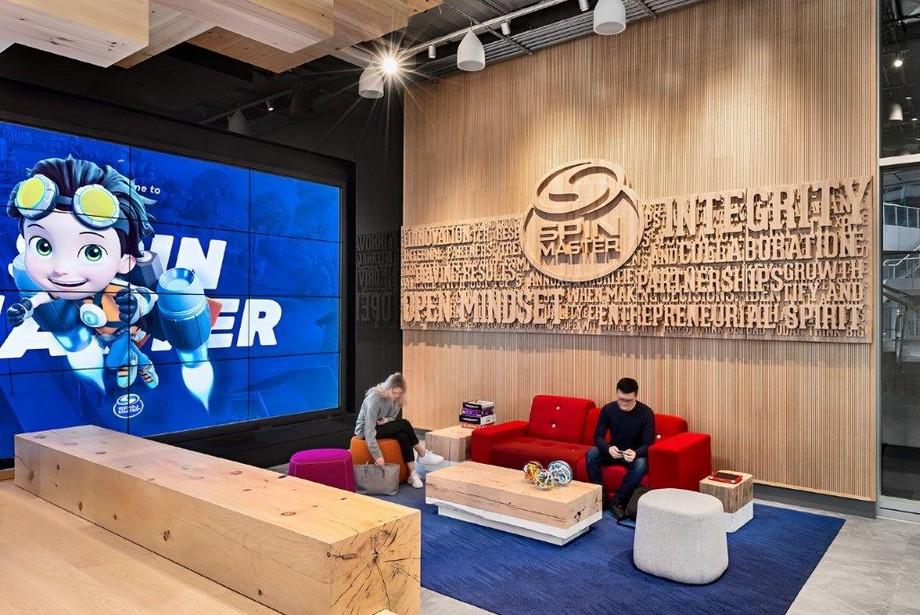 Thiết kế văn phòng vui nhộn cho công ty spin master