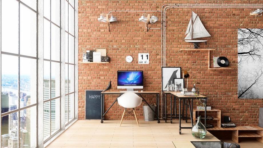 Văn phòng industrial đẹp