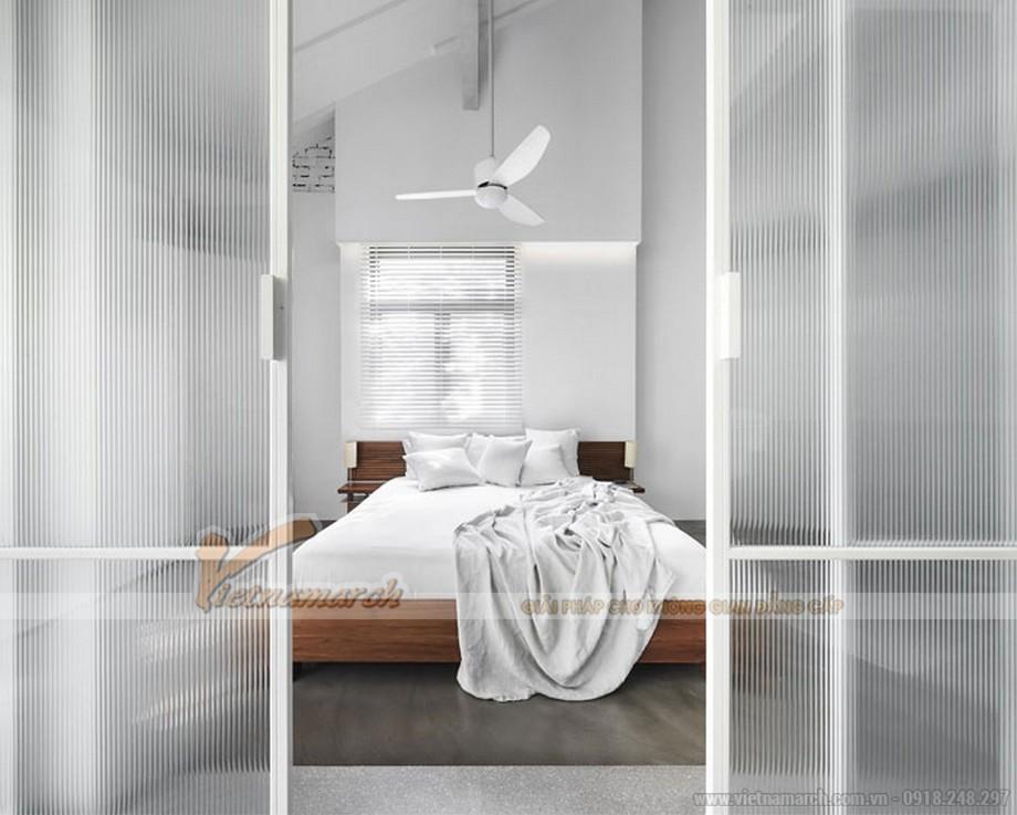 Phòng ngủ hiện đại với bảng màu trắng -Modern Serenity