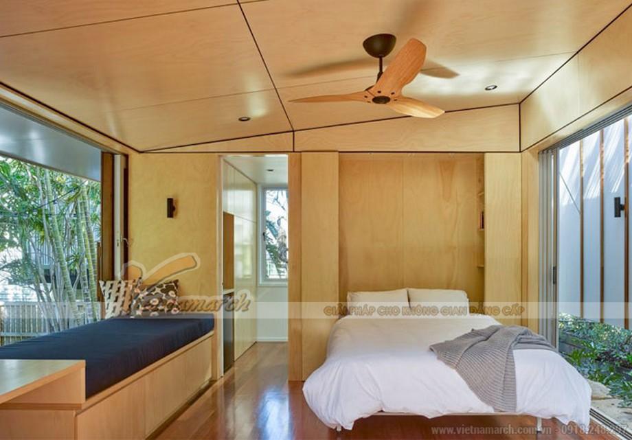 Thiết kế phòng ngủ tối giản với diện tích nhỏ