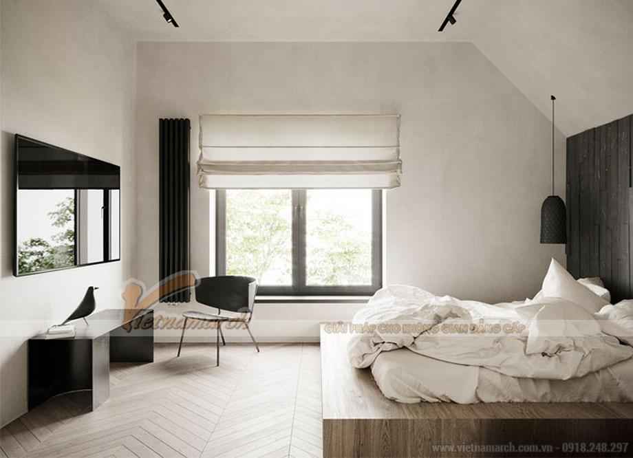 Thiết kế phòng ngủ với gam màu đơn sắc