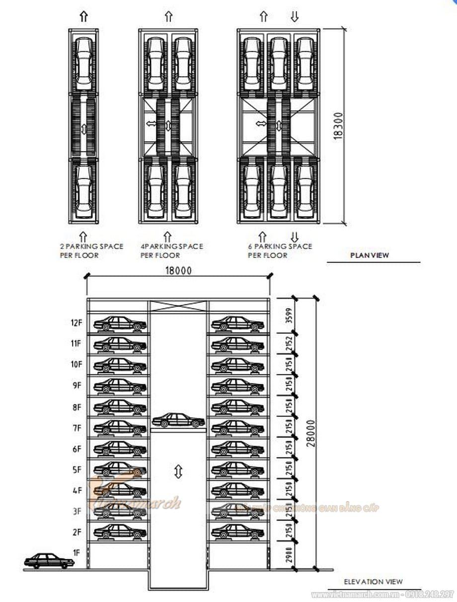 PCS - Hệ thống bãi đỗ xe thông minh dạng tháp