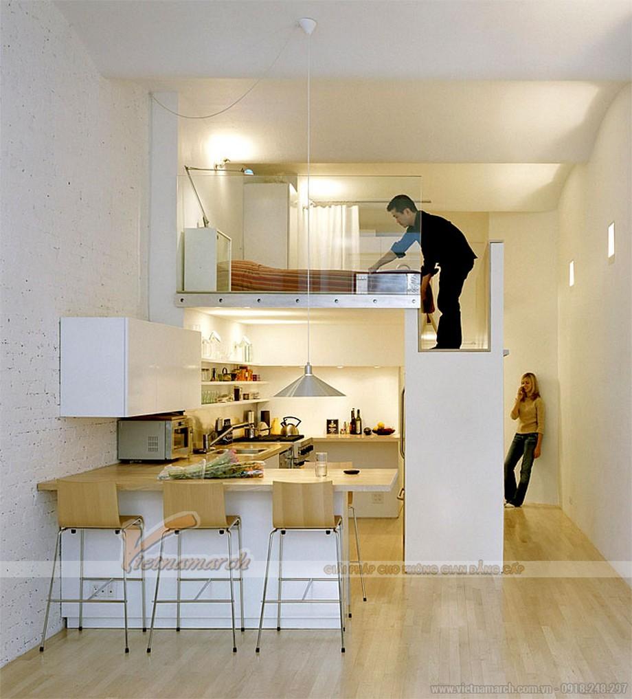 mẫu thiết kế căn hộ penthouse nhỏ thông minh