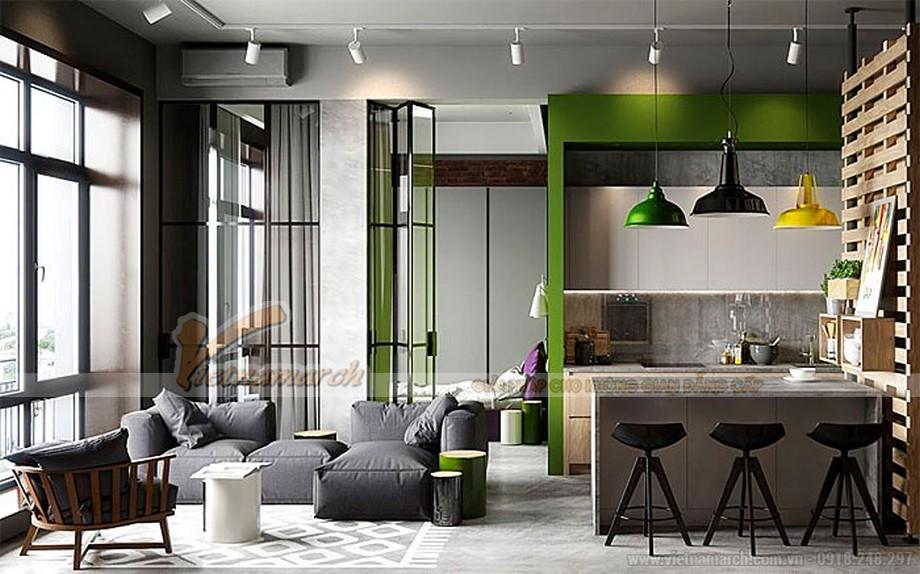Thiết kế penthouse thông minh với vách kính di chuyển