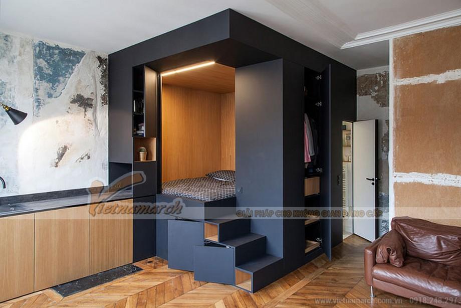 Thiết kế penthouse với phòng ngủ dạng khối hộp