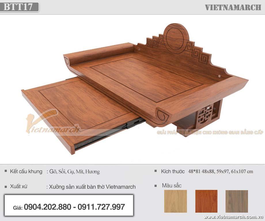 mẫu bàn thờ treo tường chung cư hiện đại