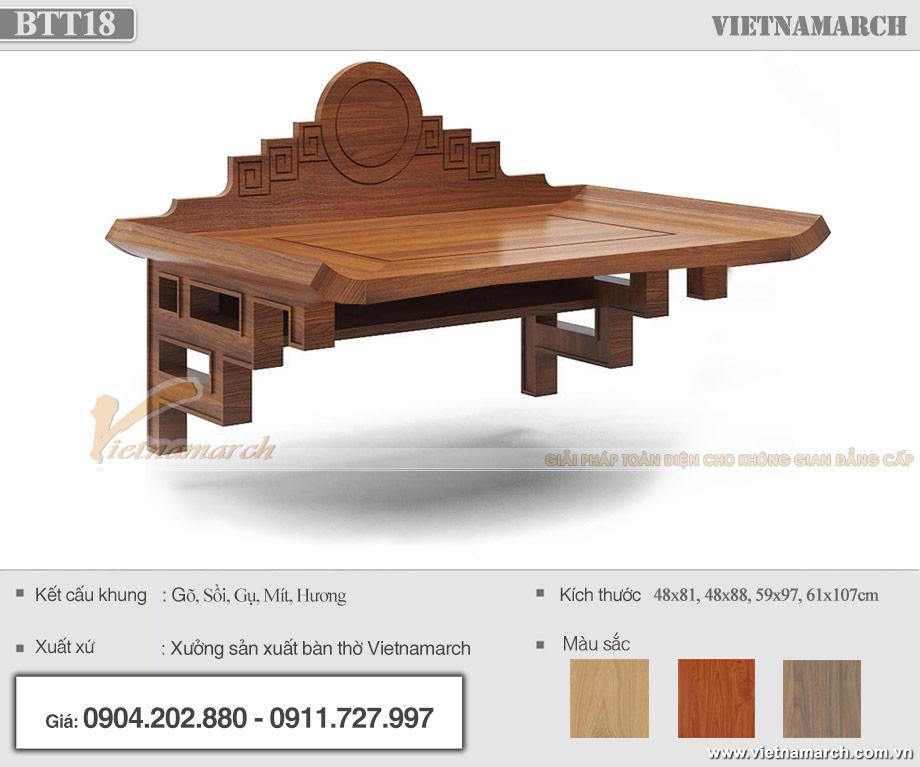 Mẫu bàn thờ treo tường chung cư đẹp