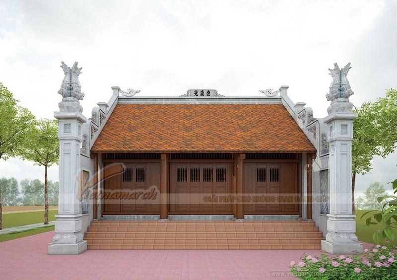 Nhà thờ họ miền Bắc được xây dựng 3 gian 2 mái