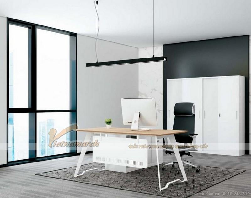 Người mệnh Kim có thể chọn những kiểu bàn làm việc được thiết kế với các góc nhọn hoặc hình tròn
