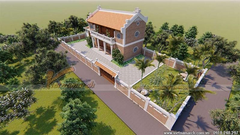 Thiết kế nhà thờ họ miền Nam 2 tầng