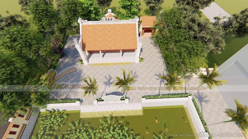 Thiết kế nhà thờ họ miền Trung với khuông viên và hồ nước
