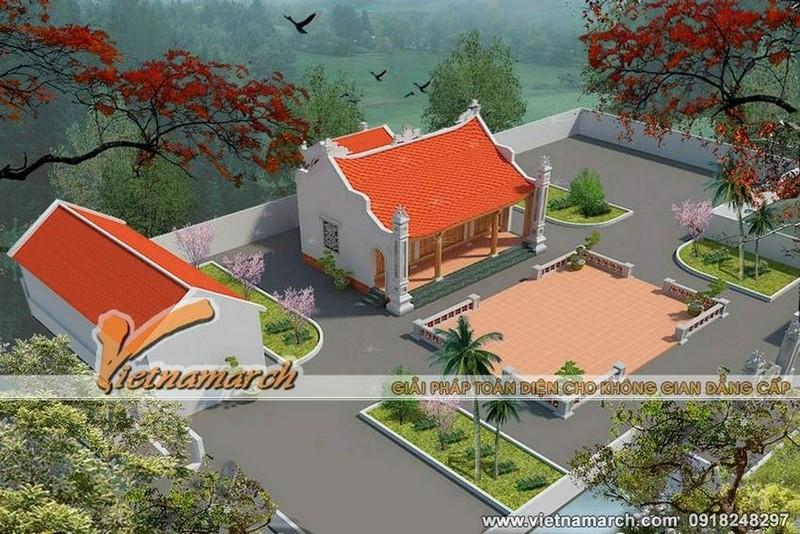 Thiết kế nhà thờ họ miền Trung chú trọng khuôn viên