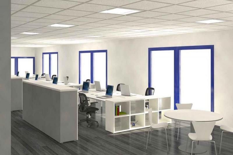Thiết kế văn phòng 30m2 màu sơn sáng